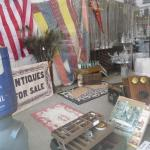 Some of the awesome antiques in this store through the front window