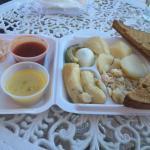Cod fish breakfast