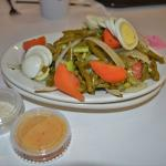 """Their """"side"""" of a green bean salad, with italian dressing"""