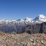Panoramic view from the landing site in the mountains