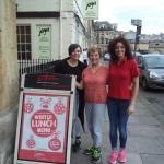 At La Tasca with lovely Teresa and Elena in Bath