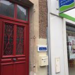 Entrance - red door