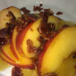 Fresh Peach and Candied Bacon