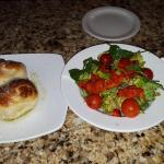 Garlic Knots & Roasted Red Pepper Salad