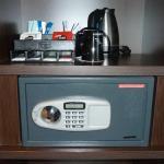 Kostenloser Safe und Tee/Kaffeezubereitung