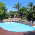 vue piscine et jardin