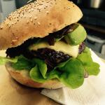 avocado and cheese beef nurger