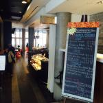 Entrance to the Bistro and daily Lunch features. Menu changes every day.