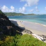 The nice beach on Maria Island