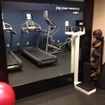 Fitness Center with yoga mats, excercise ball & weighted balls