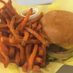 Mahaloha burger and sweet potato fries !