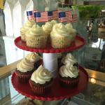 Fourth of July cupcakes at Madeline Island Bakery