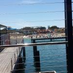 Over jetty to swimming area
