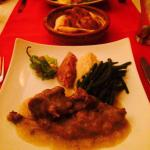 The rabbit with haricot vert and mash potatoe