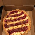 Cherry desert pizza