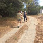 The walk to the chalet from main pool area
