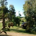 vista a entrada desde la cabaña