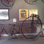 bicycle in the shape of the penny-farthing