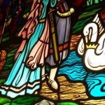 Famous German fairy tale in stained glass