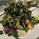 kale and Brussels sprouts (small plates menu)