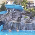 piscine et glissade