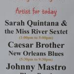 The Musicians appearing at Bamboula's 1/16/16