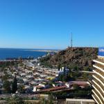 view from rooftop toward maspalomas