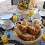 Enjoy continental breakfast on terrace