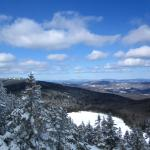 Beautiful views from the Haystack Summit Trail in Wilmington