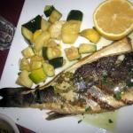 Grilled Bronzino, French-style
