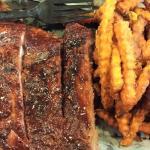 1/2 pound ribs and sweet potato fries