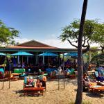 View of Lava Lava Beach Club restaurant from the beach