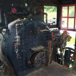 Inside the cab of the engine.