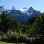 View of Cerro Fitz Roy from front yard