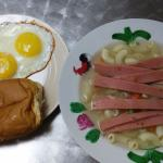 Set A with Macaroni Soup and Toast with Eggs