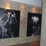 Artwork at entrance of room room 504