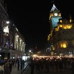 The Balmoral during Hogmanay Torchlight Procession