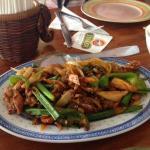 Chicken with lemongrass and chili. Yum!