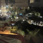 The theme park at night, view from our room.