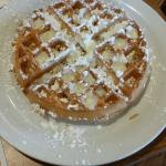 Belgian Waffle with Powdered Sugar