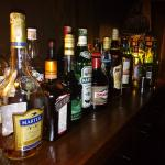Array of Drinks at the Bar Area