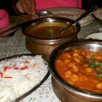 Channa Masala, Dal (Made special without the cream) and beautiful basmati rice