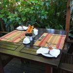 Outdoor breakfasts beneath the trees