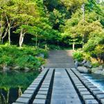 The stone bridge across