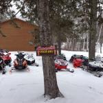 Plenty of snowmobile parking