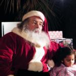 best part of ZooLights was their wonderful Santa
