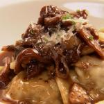 Handmade Ravioli Short Ribs meat and porcini mushrooms