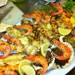 Family style mix grill seafood platter