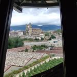 Vista del pueblo de Elciego desde la habitación