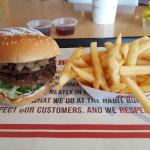 Habit Double Buger and fries